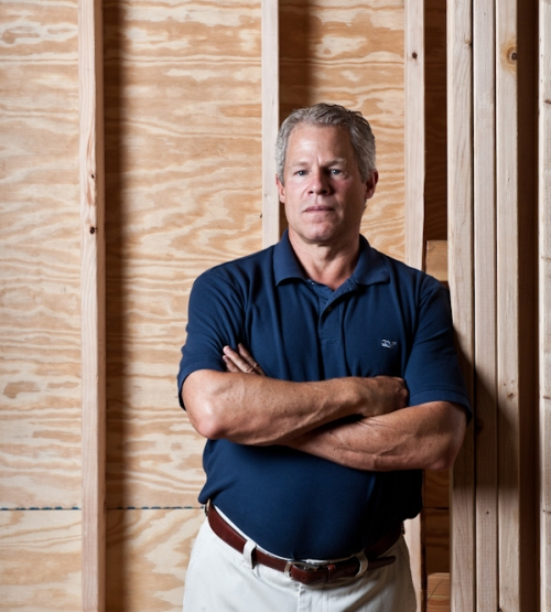 """Tom Bentley, CEO of Bentley Homes, in his Worthing community in Newtown Square last year where 14 of 18 homesites have been sold. Bentley says he's more """"hands on"""" and is working harder than he has in years."""